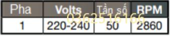 Số Pha và tần số của bơm hydrotuf